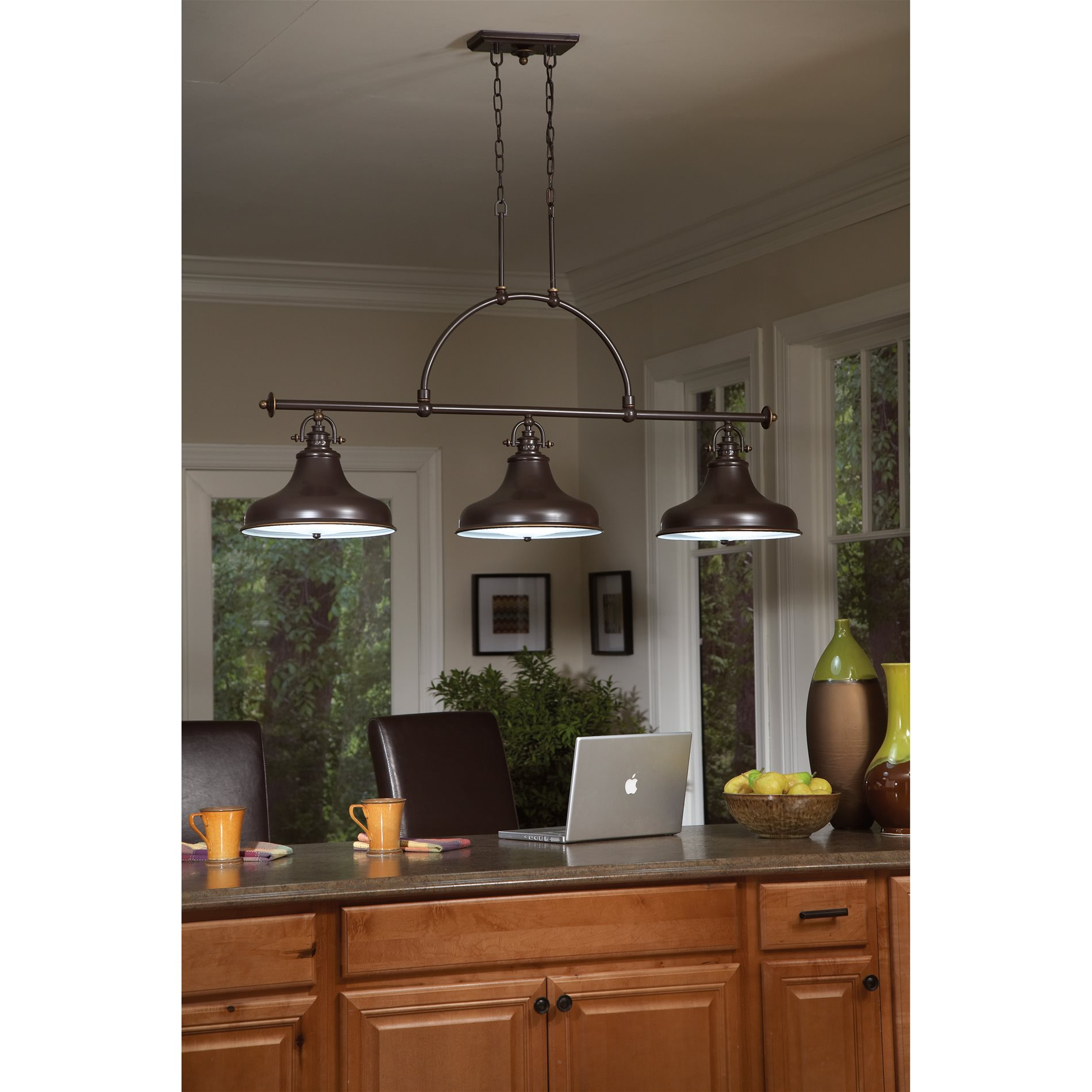 Ceiling lights kitchen island : Quoizel er pn emery transitional kitchen island