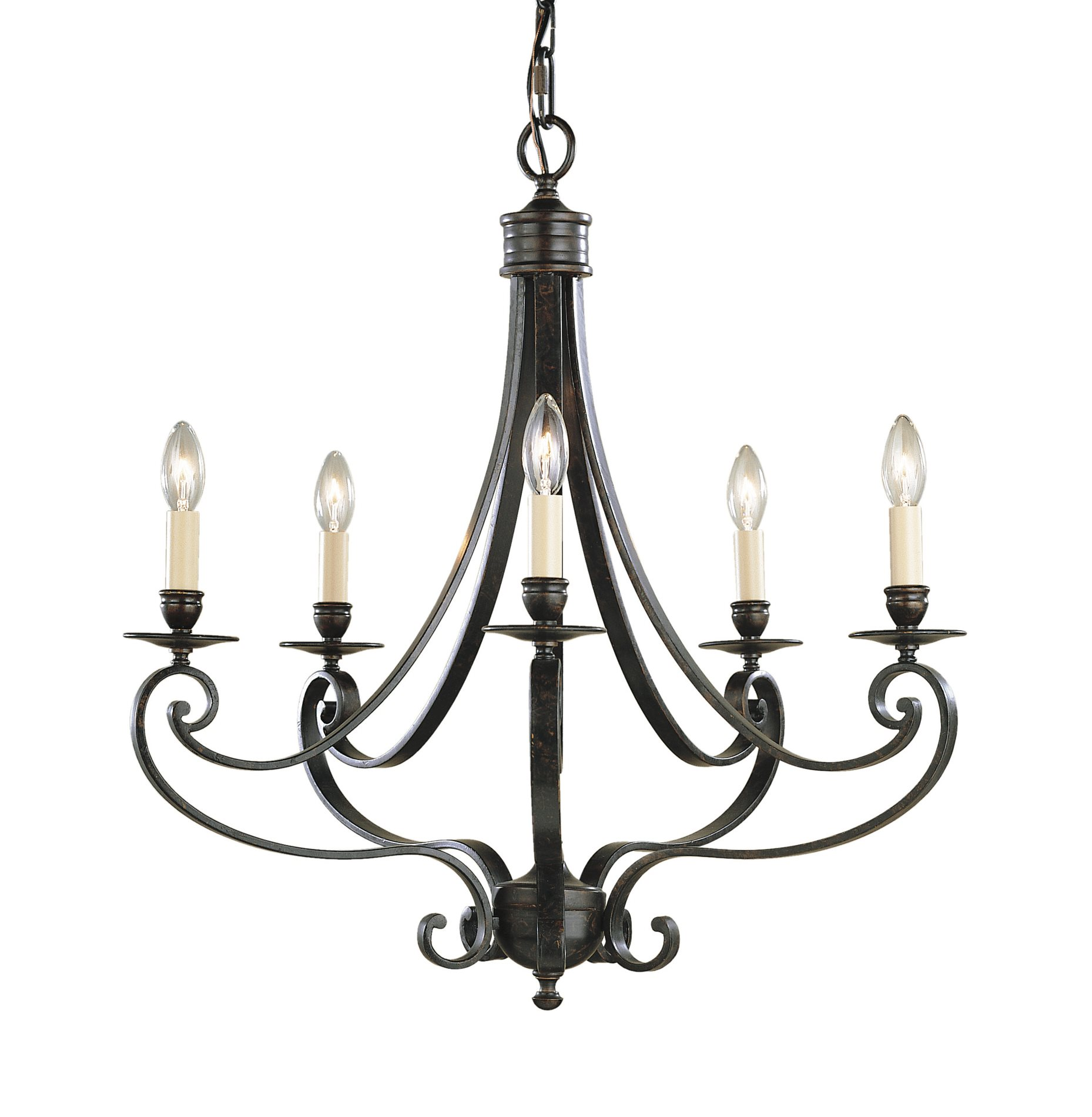 Murray Feiss Ceiling Fan Light Kit: Murray Feiss F1929/5LBR Cervantes Transitional Chandelier