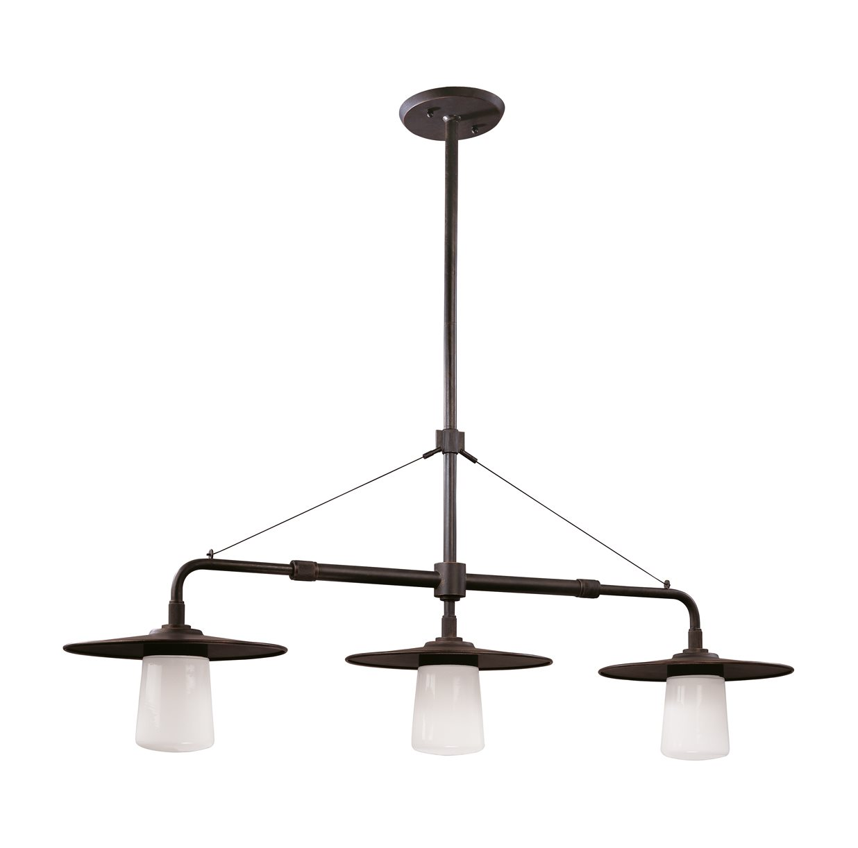 Kitchen Island Light With Fan: Troy Lighting F2313AB Edison Transitional Kitchen Island