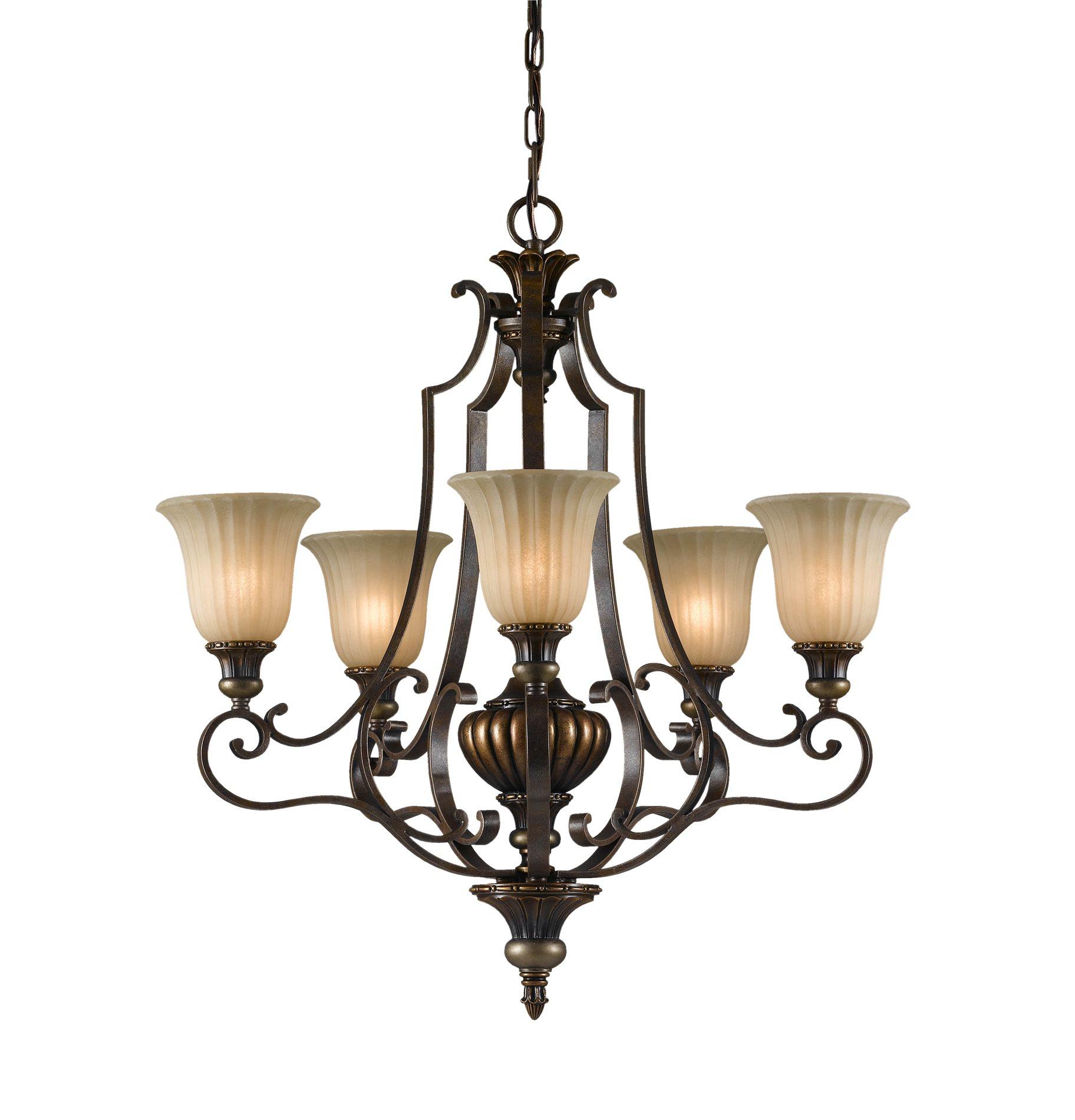 Discount Murray Feiss Lighting: Murray Feiss F2503/5FG/BRB Kelham Hall Traditional