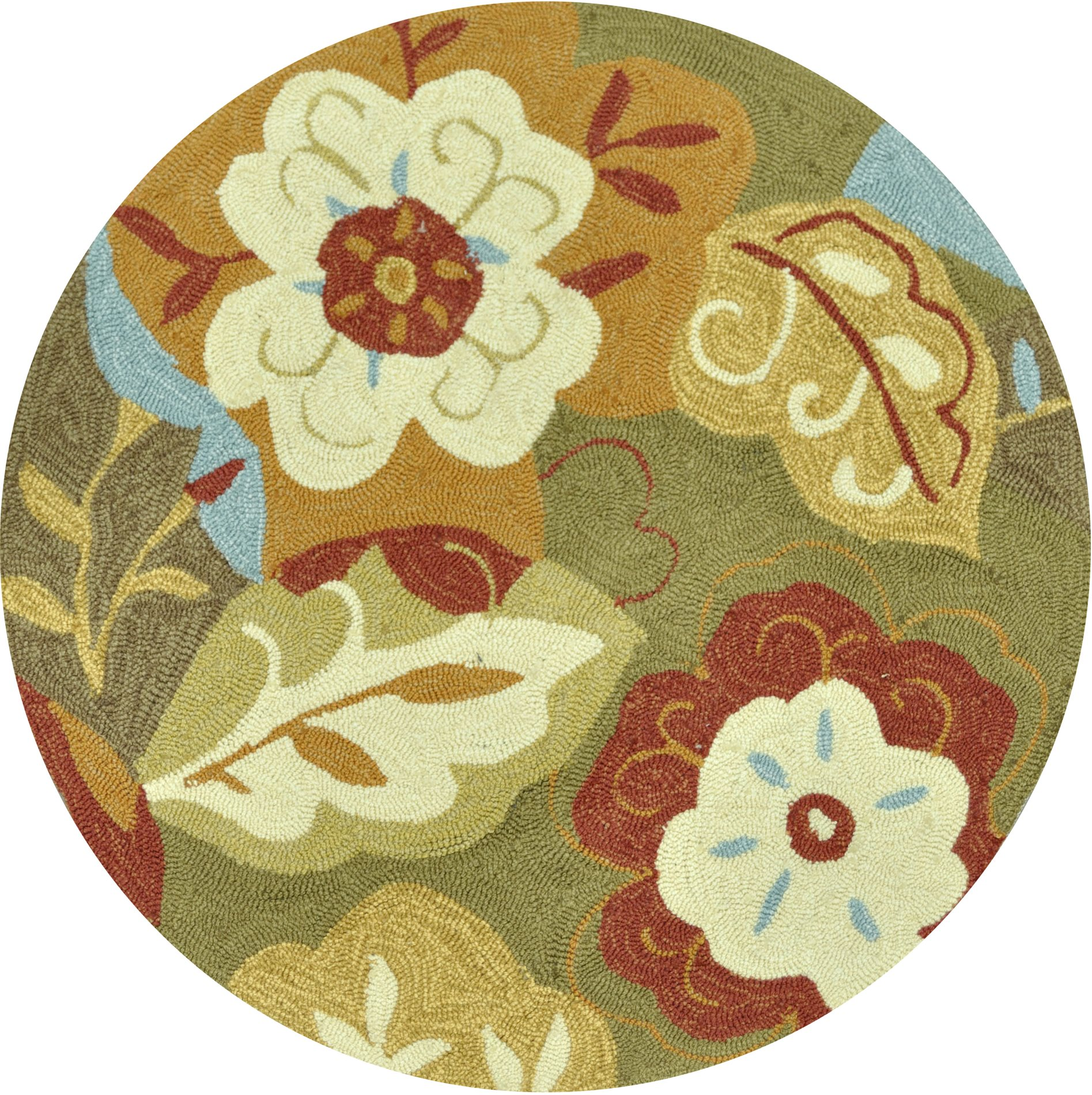 Clearance] Francesca Green-Multi Transitional Hand Hooked Rug - XRLL ...