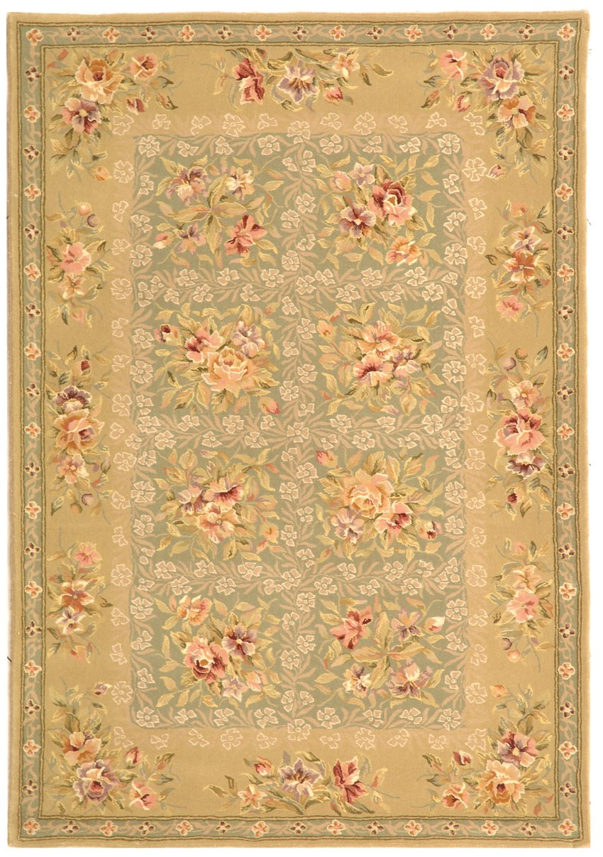 safavieh ft211a french tapis country floral hand tufted. Black Bedroom Furniture Sets. Home Design Ideas