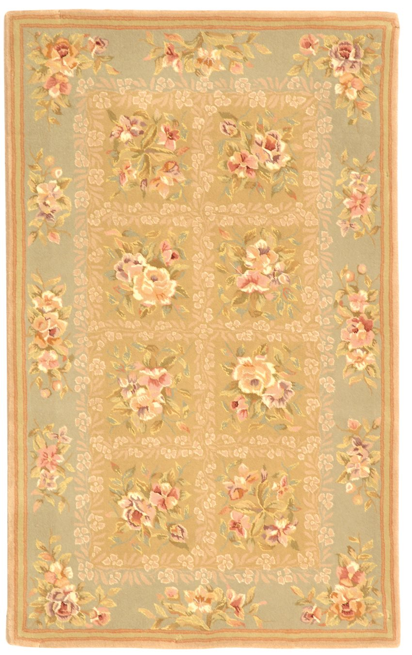 safavieh ft211b french tapis country floral hand tufted. Black Bedroom Furniture Sets. Home Design Ideas