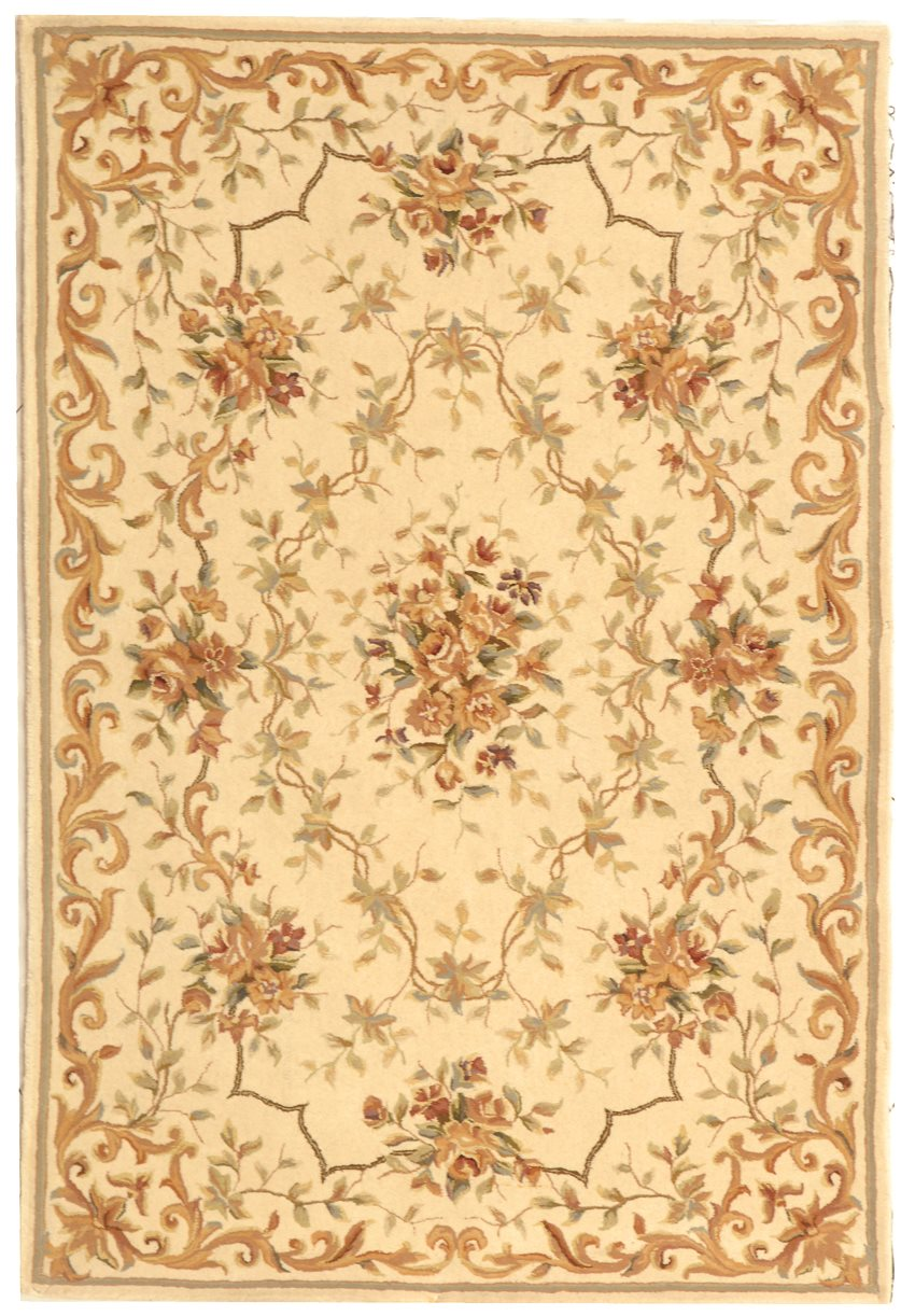 safavieh ft217b french tapis country floral hand tufted. Black Bedroom Furniture Sets. Home Design Ideas