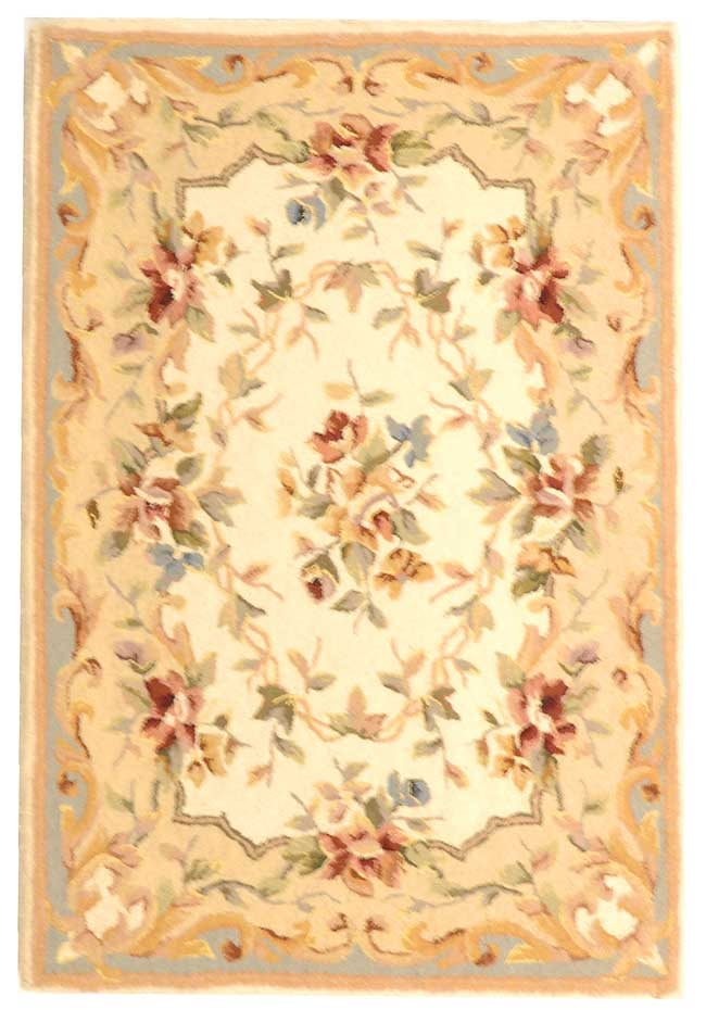 safavieh ft217c french tapis country floral hand tufted. Black Bedroom Furniture Sets. Home Design Ideas