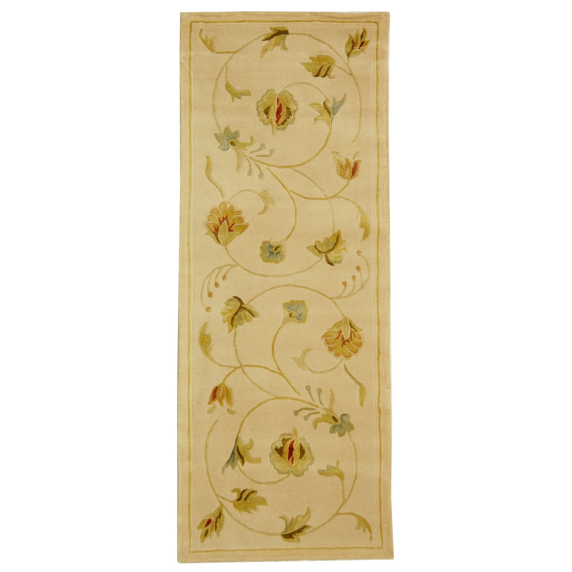 safavieh ft237a french tapis country floral hand tufted. Black Bedroom Furniture Sets. Home Design Ideas