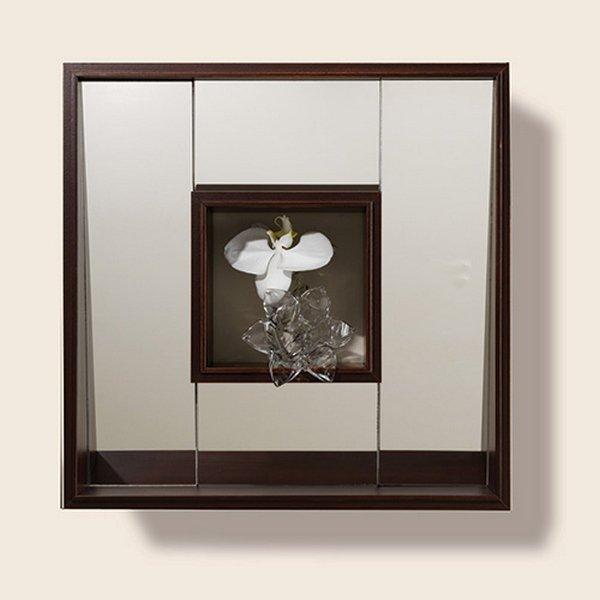 Global Views Box: Global Views 3.30925 Shadow Box Transitional Square Mirror