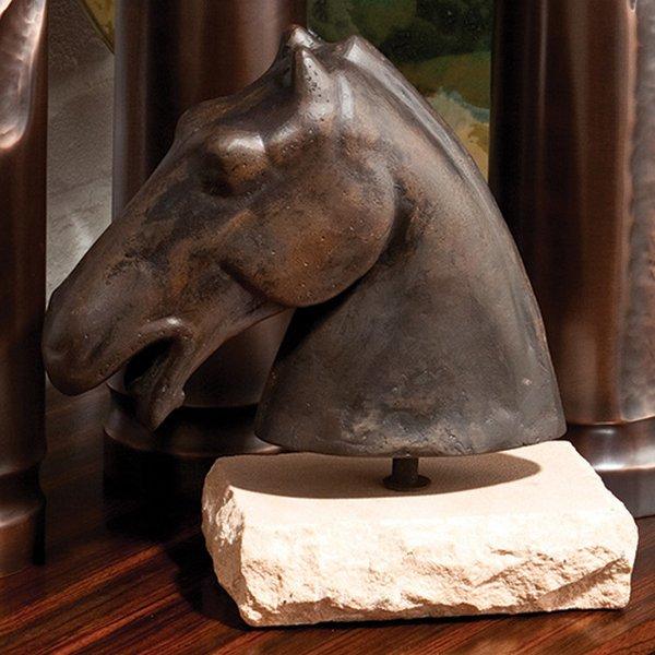 Global Views Horse: Global Views 9.91649 Cast Iron Horse Head Traditional