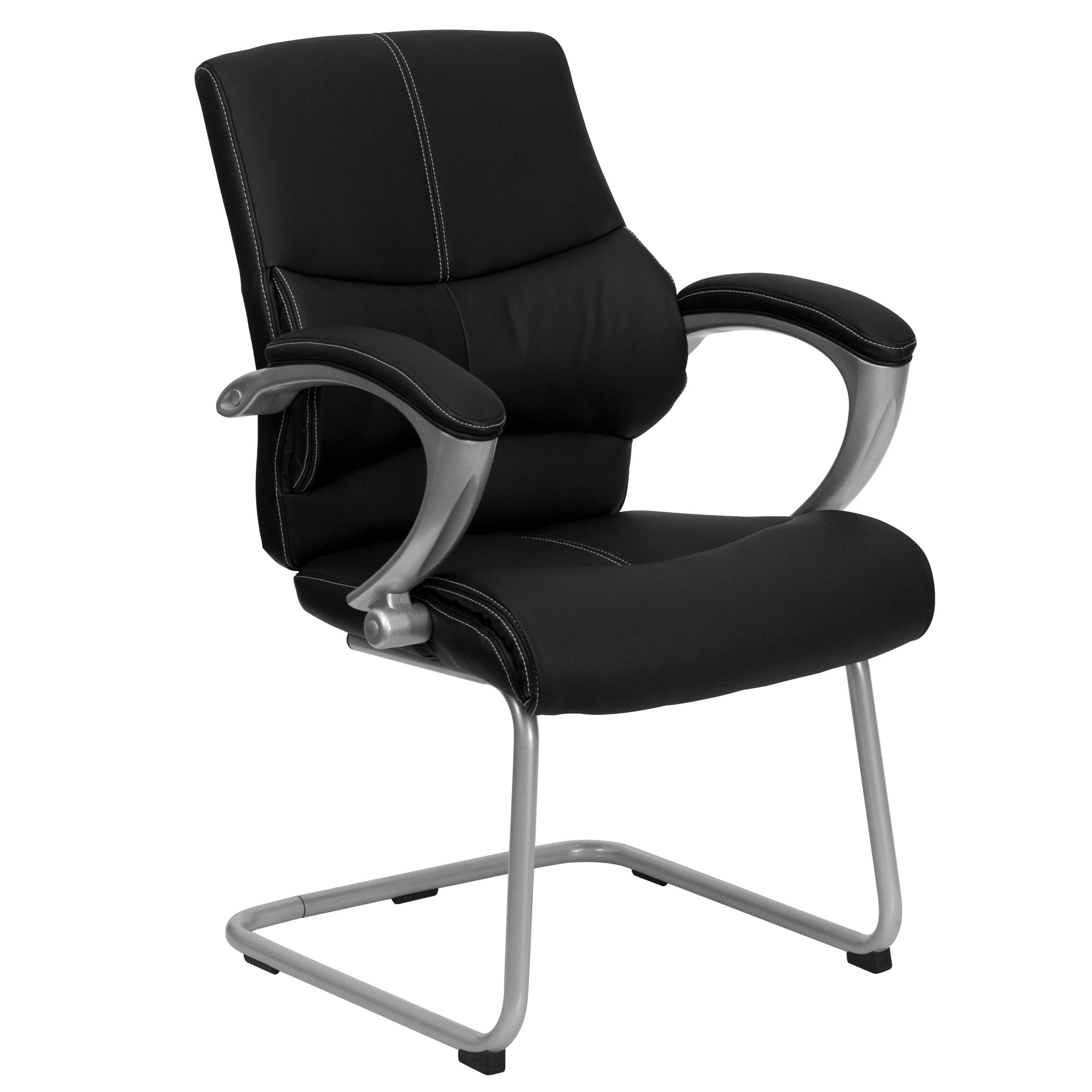 Flash Furniture H 9637L 3 SIDE GG Office Chairs Leather Side Chairs FF H 9637