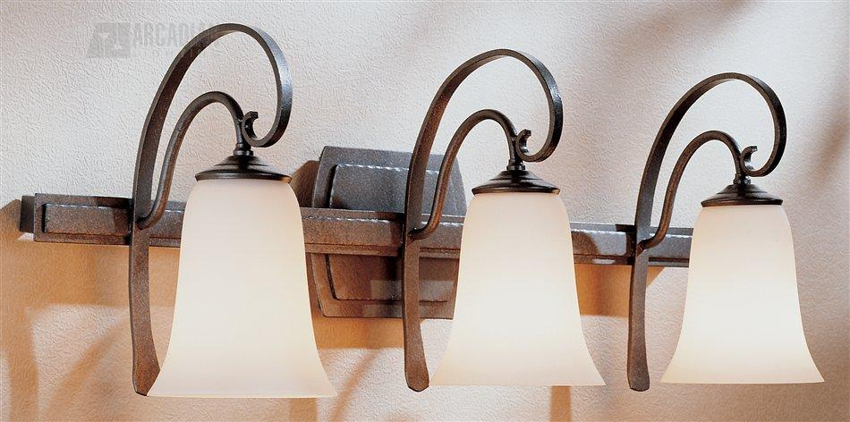 Hubbardton forge 204533 scroll traditional bathroom vanity light hf 204533 for Hubbardton forge bathroom lighting