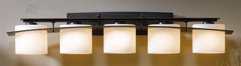 Hubbardton forge 207525 arc ellipse 60w transitional bathroom vanity light hf 207525 for Hubbardton forge bathroom lighting