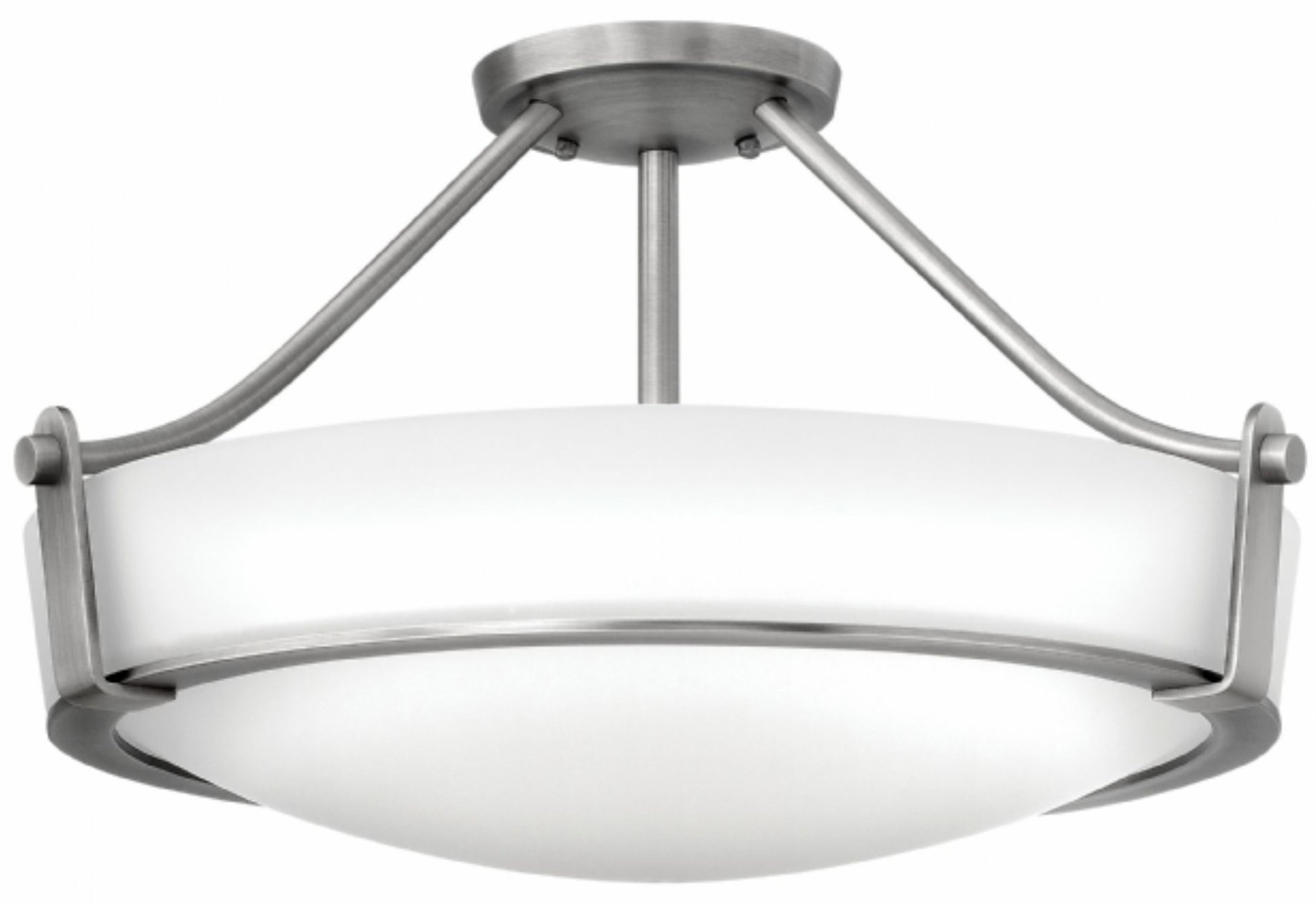 Hinkley lighting 3221an led hathaway modern contemporary for Semi flush mount lighting modern