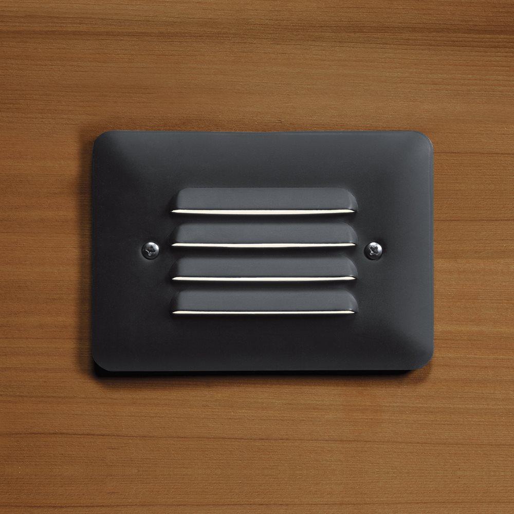 Kichler Lighting 15782bkt Louvered Outdoor Led Mini Step Light Kch 15782bkt