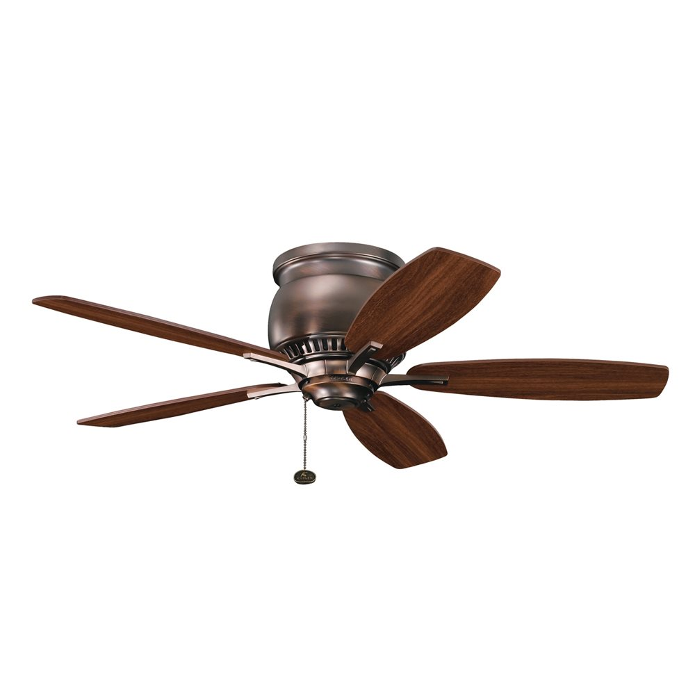 Kichler Lighting 300124OBB Richland II 42 Transitional Flush Mount Ceiling Fan KCH 300124 OBB