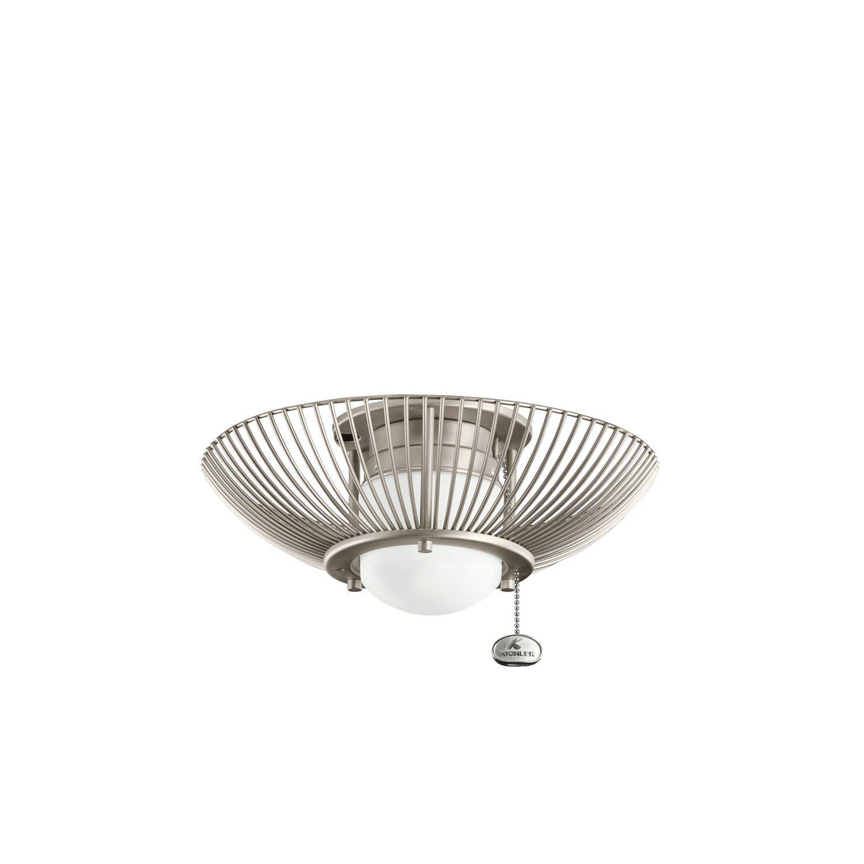 kichler lighting 380114ni wire frame ceiling fan light kit kch 380114ni