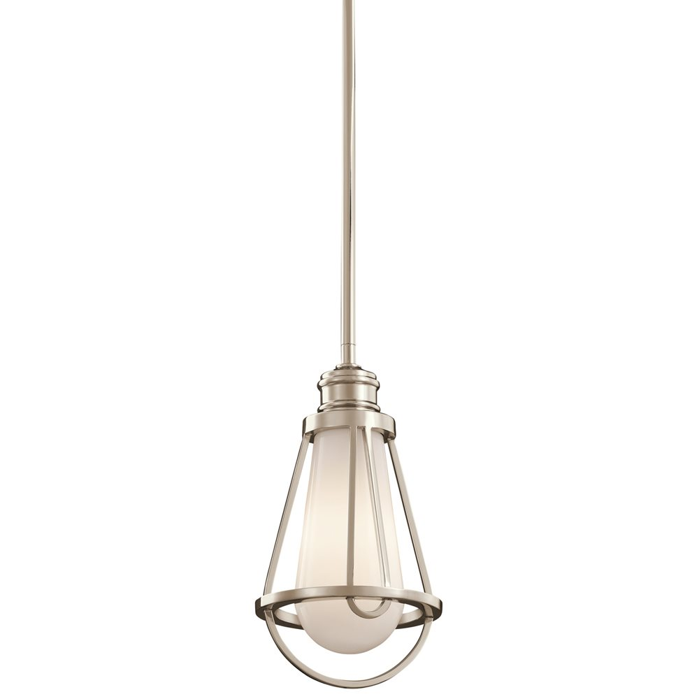 kichler lighting 42225pn saddler transitional mini pendant
