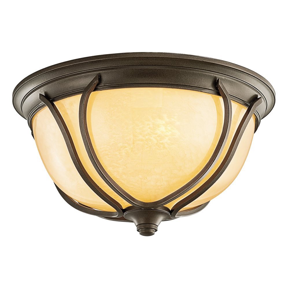 Pasadena arts and crafts mission fluorescent outdoor flush for Arts and crafts flush mount lighting
