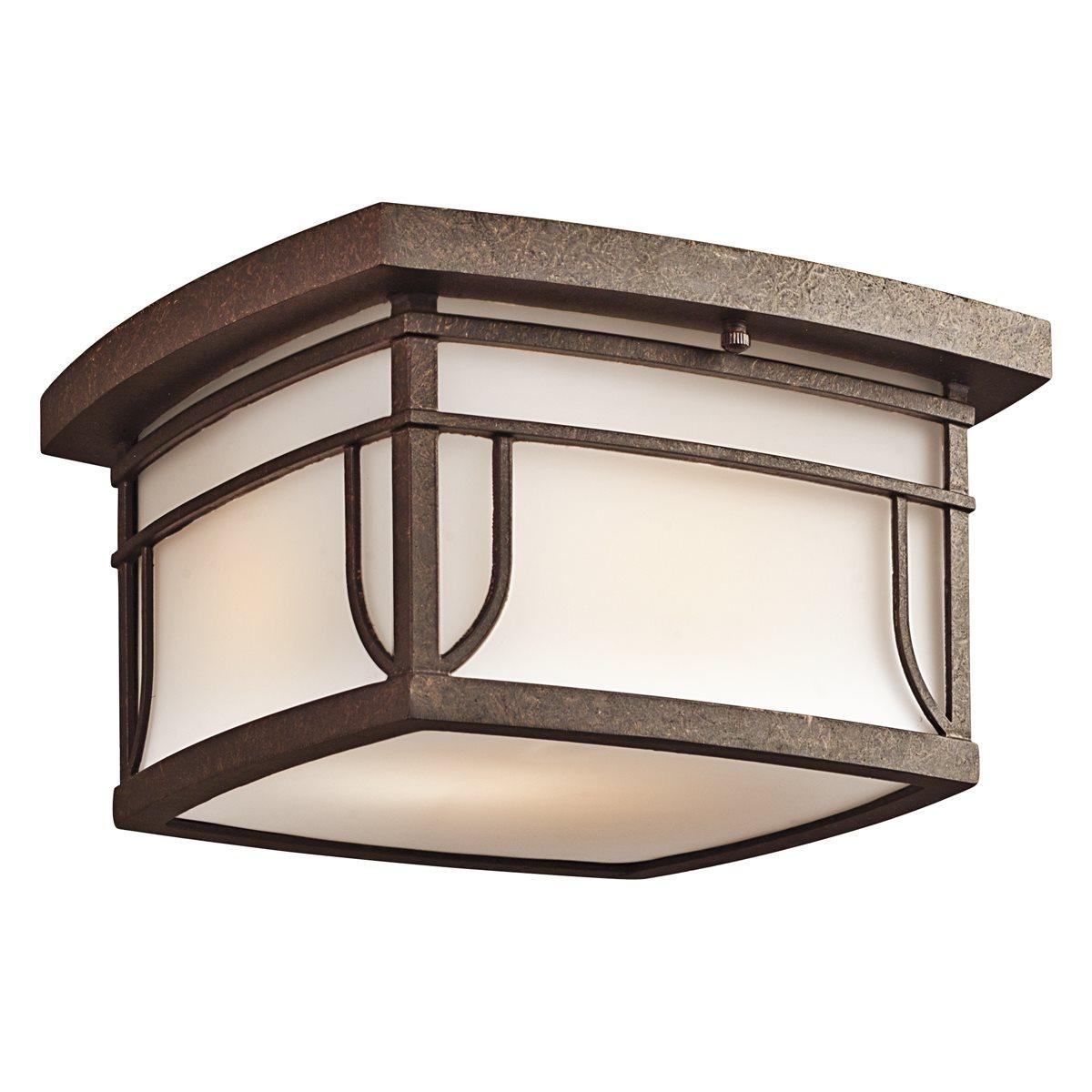Kichler Lighting 49153agzs Priya Transitional Outdoor Flush Mount Ceiling Light Kch 49153agzs