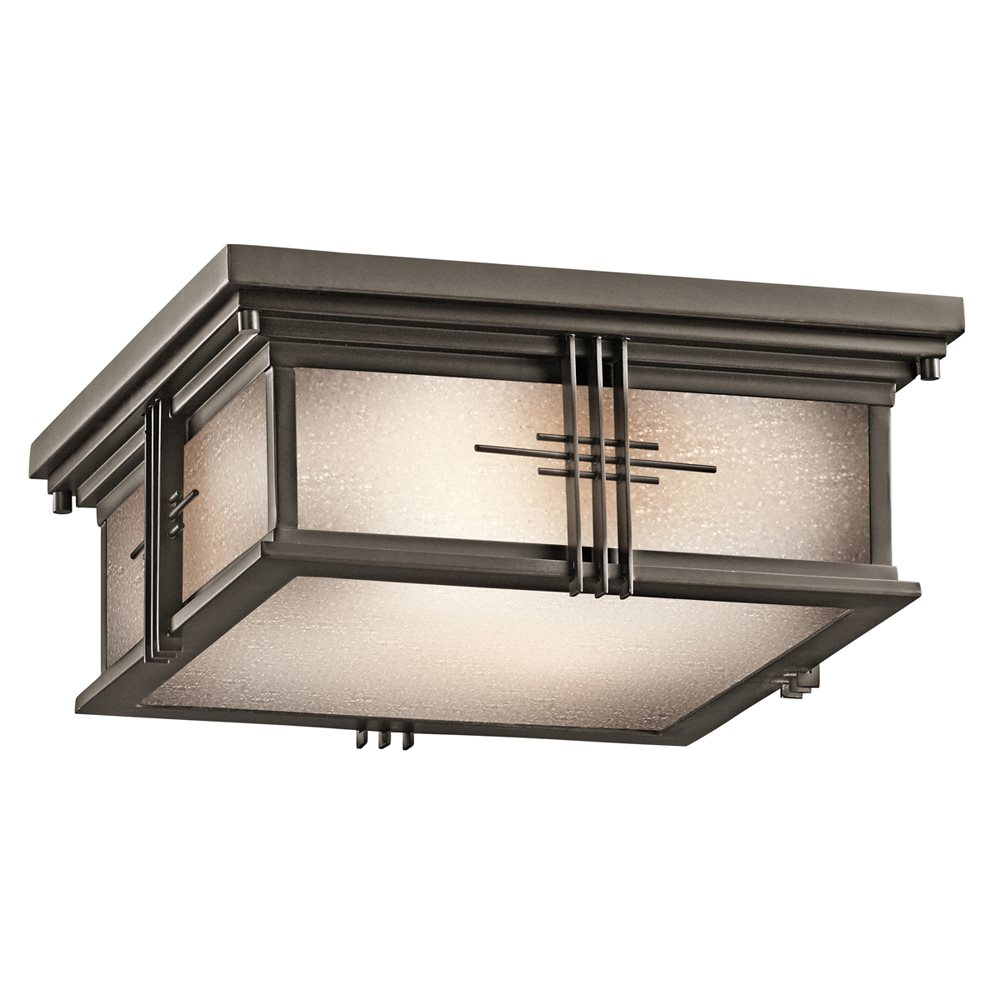 Portman square arts and crafts mission outdoor flush mount for Arts and crafts flush mount lighting