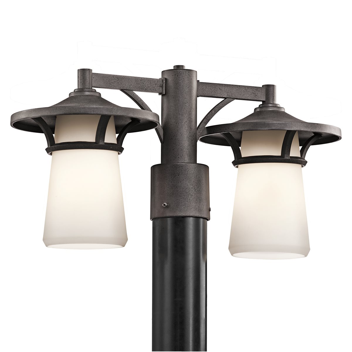 Kichler lighting 49374avi lura modern contemporary for Contemporary outdoor post light fixtures