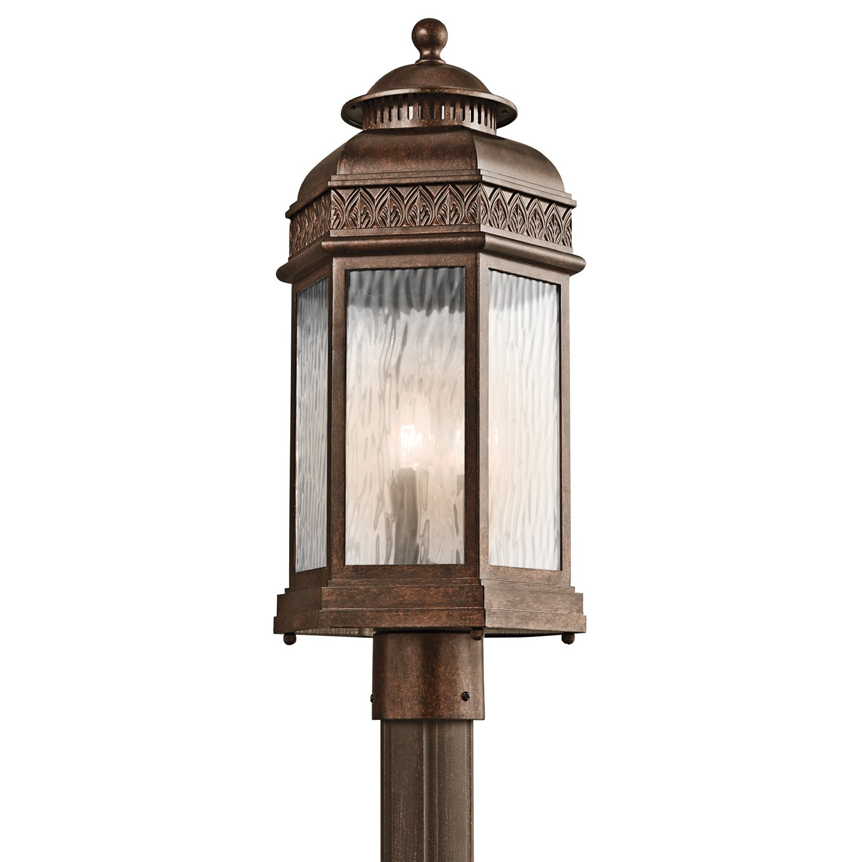 Kichler Lighting 49466brz Tolland Traditional Outdoor Post Lantern Light Kch 49466 Brz