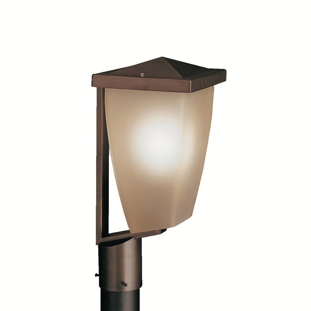 Kichler lighting 9528oz benton hard contemporary outdoor for Contemporary outdoor post light fixtures