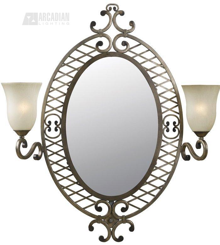 kenroy 91469ds lattice traditional vanity oval mirror kr 91469 ds. Black Bedroom Furniture Sets. Home Design Ideas