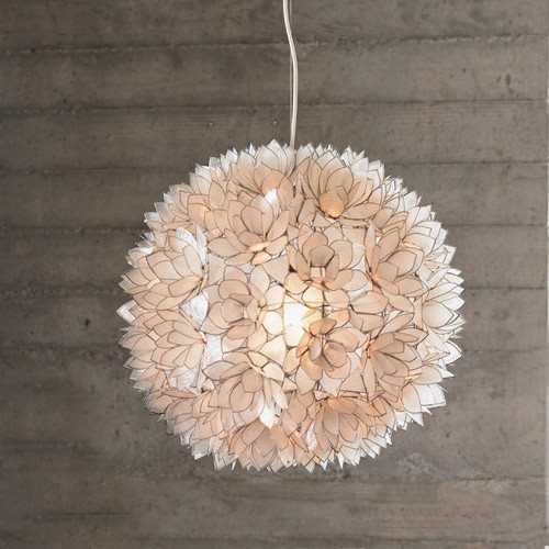 Roost L803 Lotus Flower White Modern Contemporary