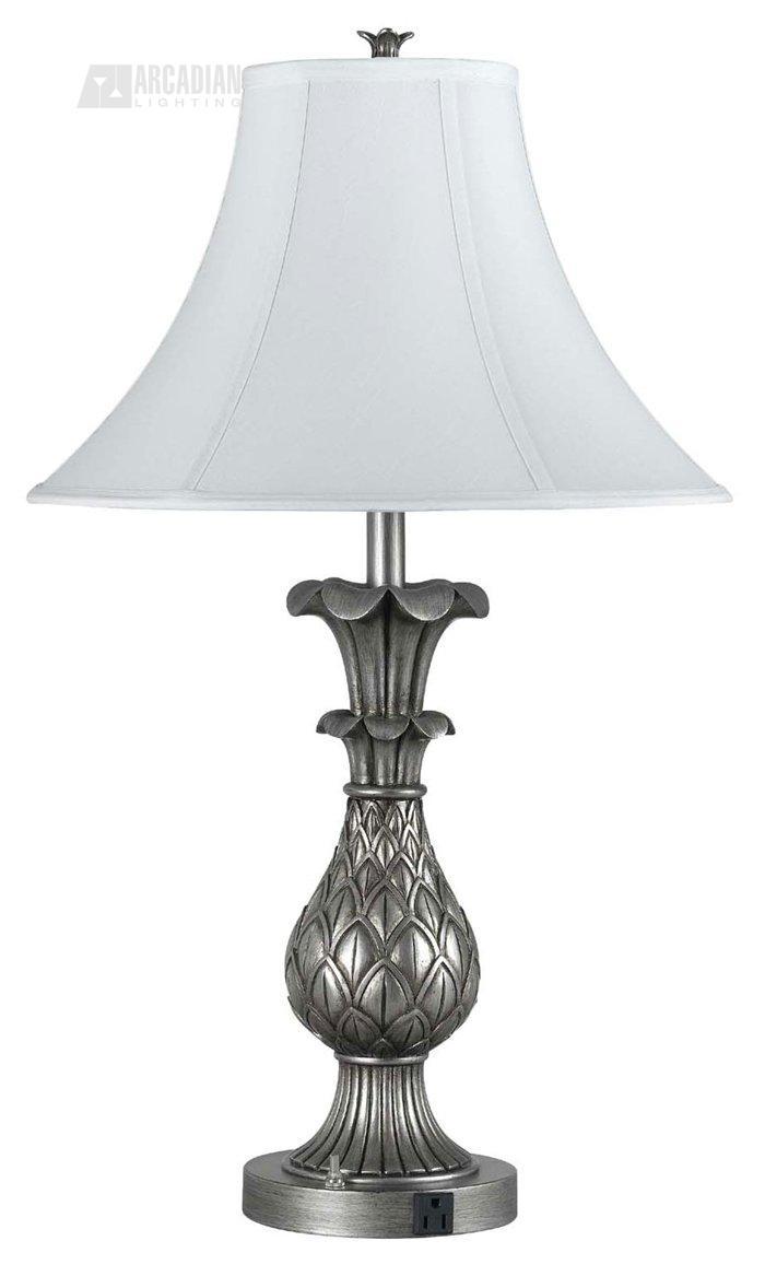 cal lighting la 60001tb 4 pineapple traditional table lamp. Black Bedroom Furniture Sets. Home Design Ideas