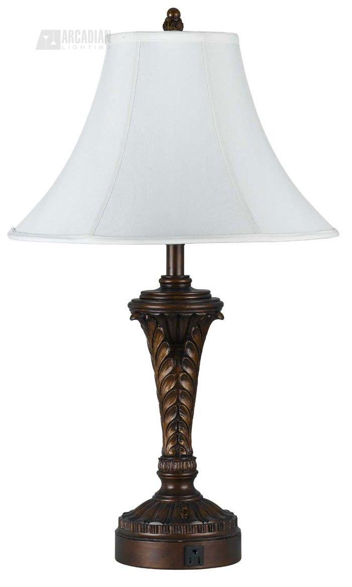 cal lighting la 60004tb 1 traditional table lamp with. Black Bedroom Furniture Sets. Home Design Ideas