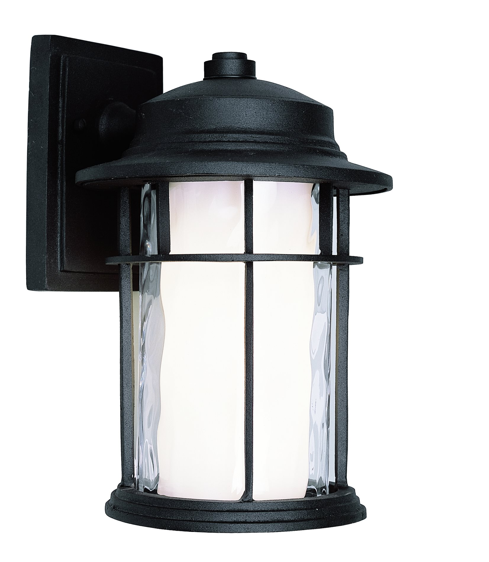 Trans Globe Lighting Led 5290 Bk Chimney Transitional Energy Efficient Led Outdoor Wall Sconce