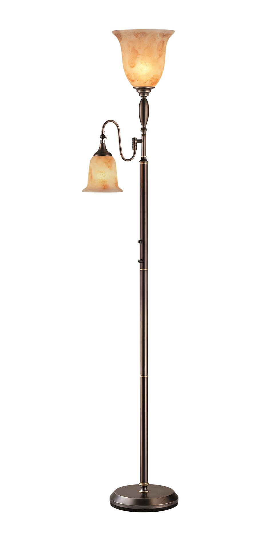 Lite Source Ls 80442d Brz Zesiro Traditional Torchiere Reading Lamp Ls 80442 D Brz