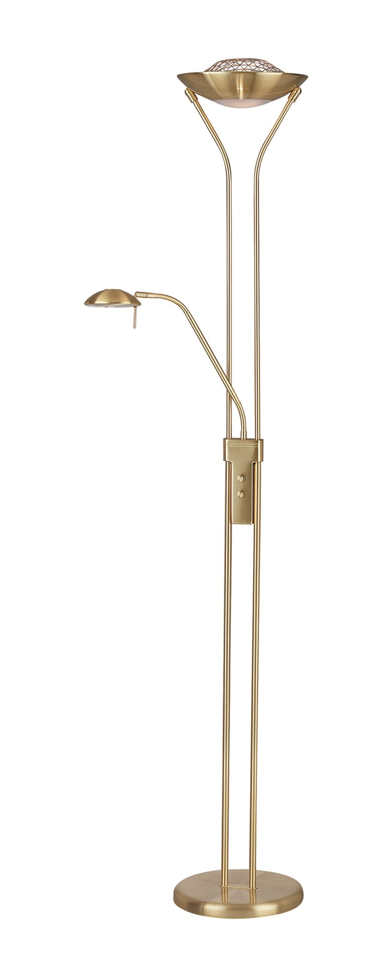 Lite source ls 80984pbs duality ii contemporary torchiere for Contemporary torchiere floor lamps