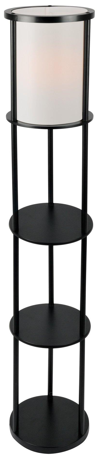 Lite source ls 82839blk laina transitional 3 tier shelf for 4 tier floor lamp