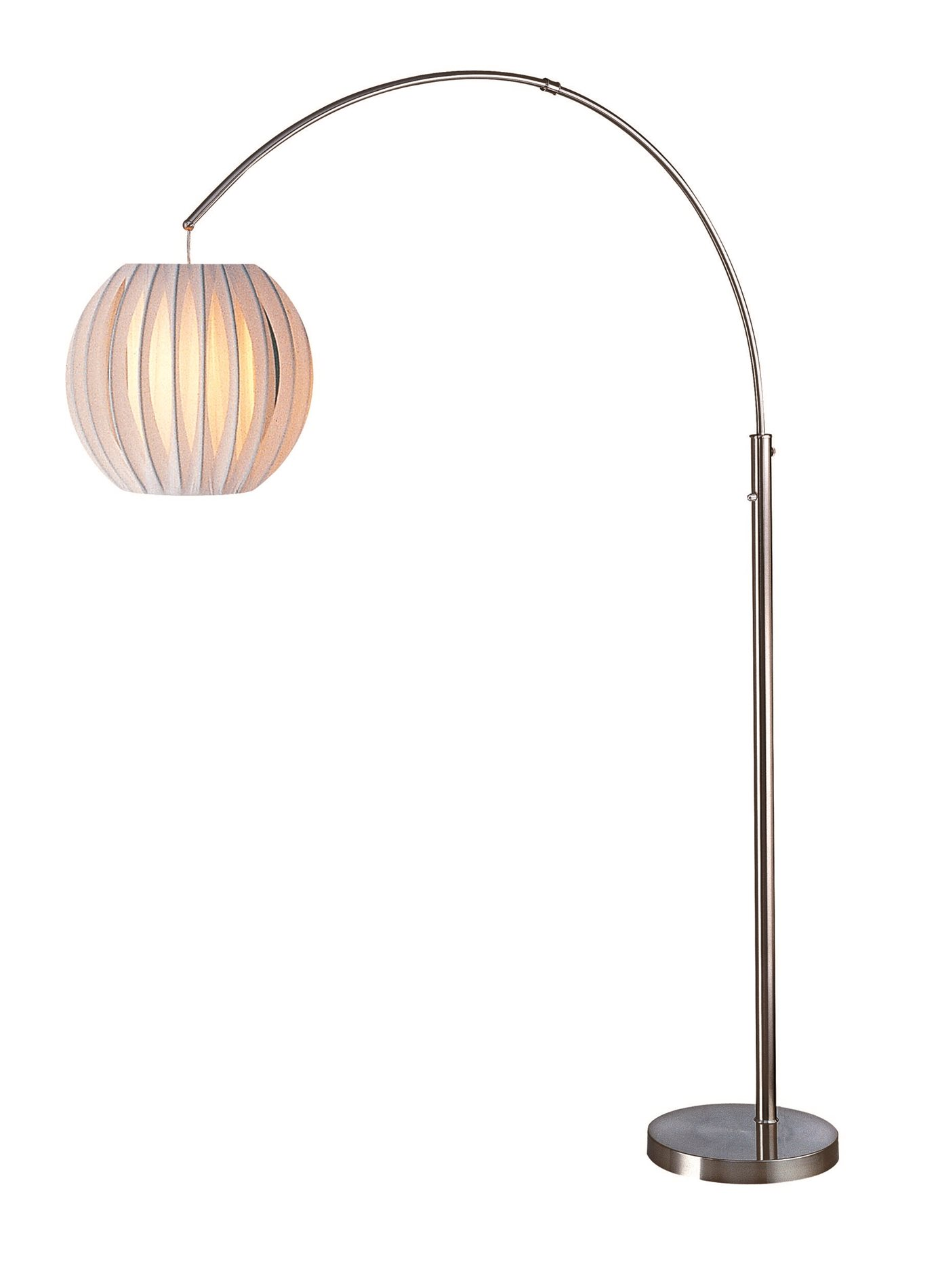 lite source ls 8870ps wht deion contemporary arc floor. Black Bedroom Furniture Sets. Home Design Ideas