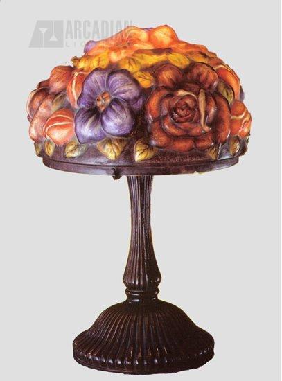 Meyda Tiffany 24016 Bouquet Puffy Tropical Table Lamp Md 24016