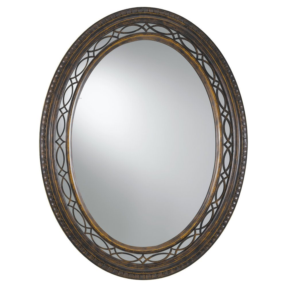 Murray Feiss Mirrors: Murray Feiss MR1066WAL Edwardian Oval Mirror MRF-MR1066WAL