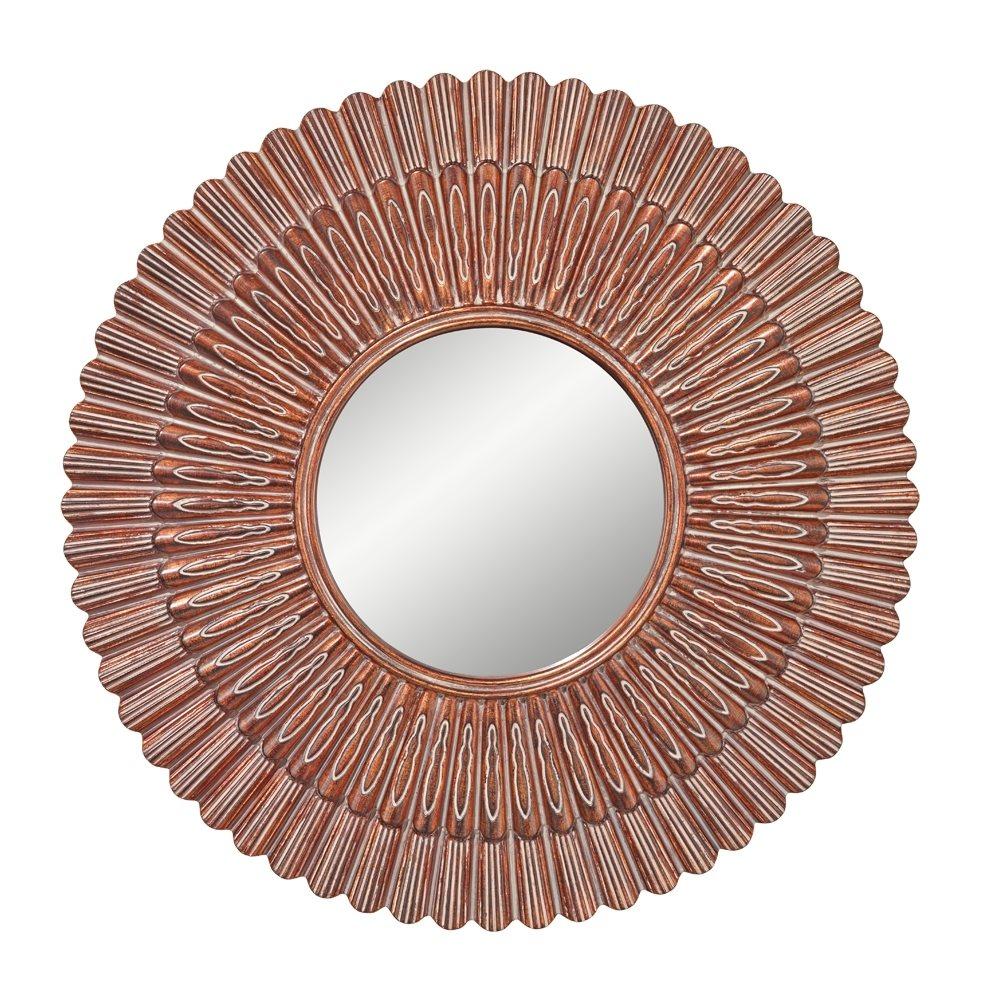 Murray Feiss Mirrors: Murray Feiss MR1187AG Contemporary Round Mirror MRF-MR1187AG