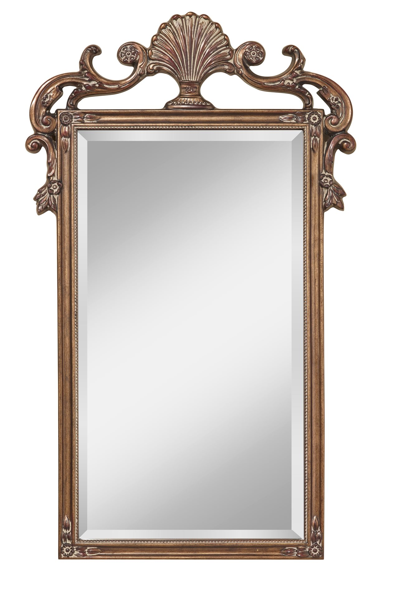 Murray feiss mr1188ag traditional rectangular mirror mrf for Traditional mirror