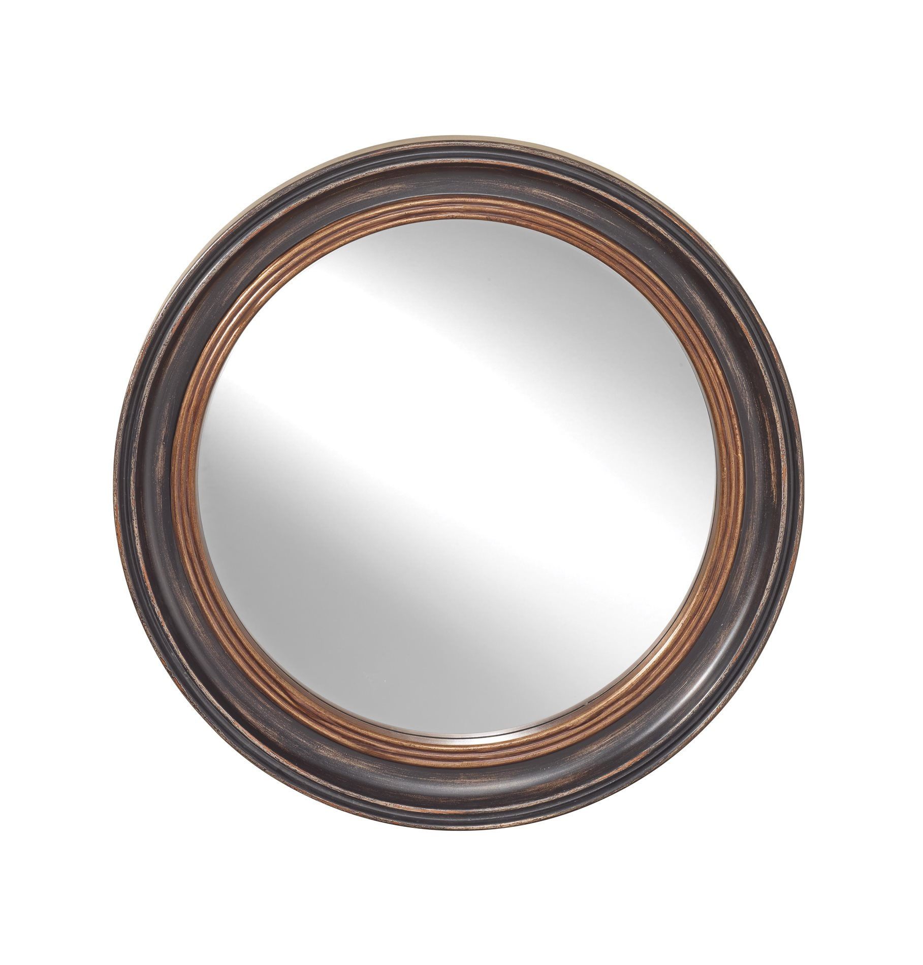 Murray Feiss Mirrors: Murray Feiss MR1193DBK Traditional Round Mirror MRF-MR1193DBK