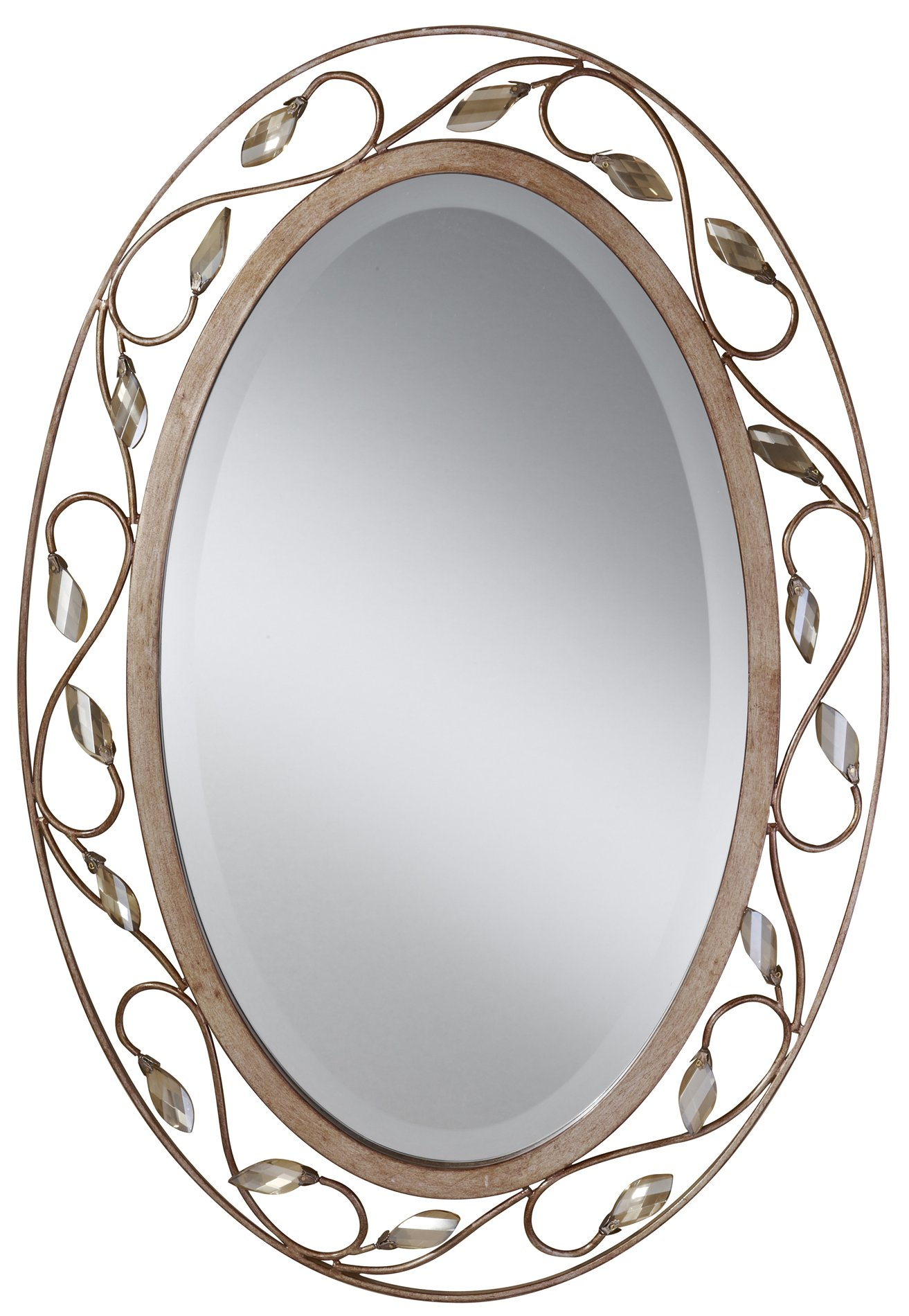 Murray Feiss Mr1109ars Priscilla Traditional Oval Mirror Mrf Mr1109ars