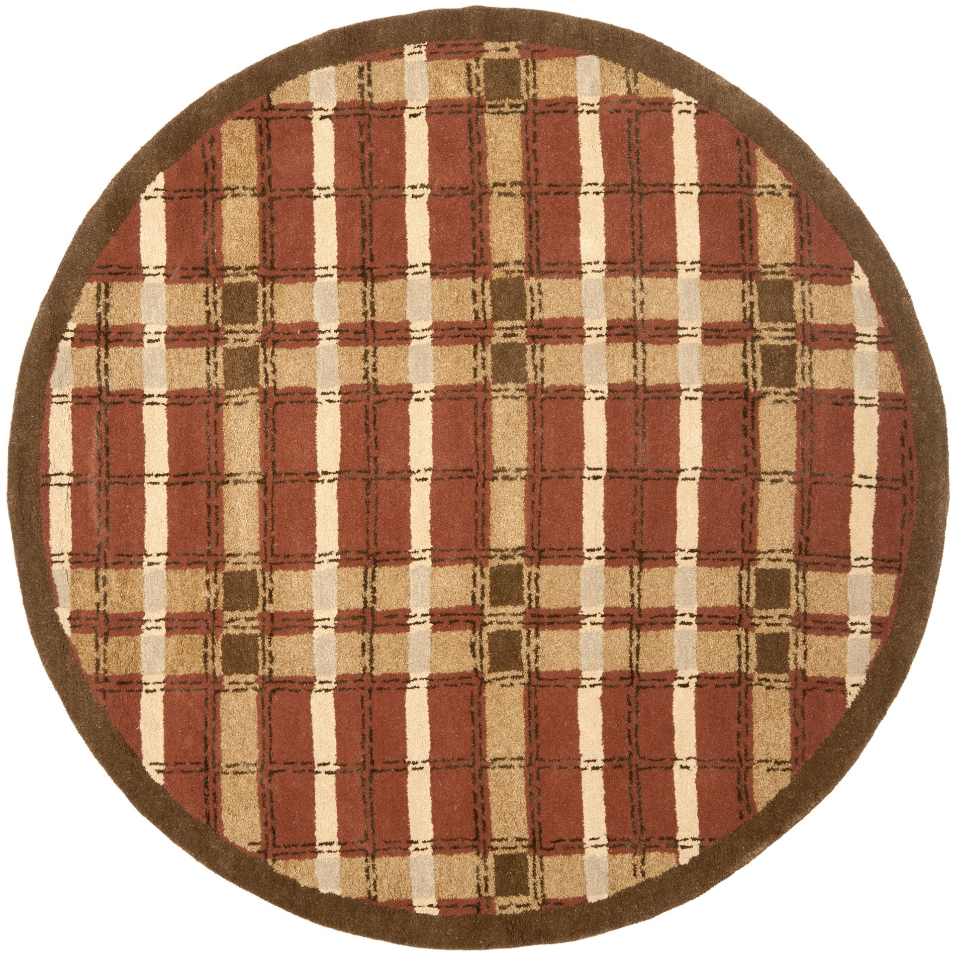 Plaid Rug: Safavieh MSR3613D Martha Stewart Contemporary Colorweave