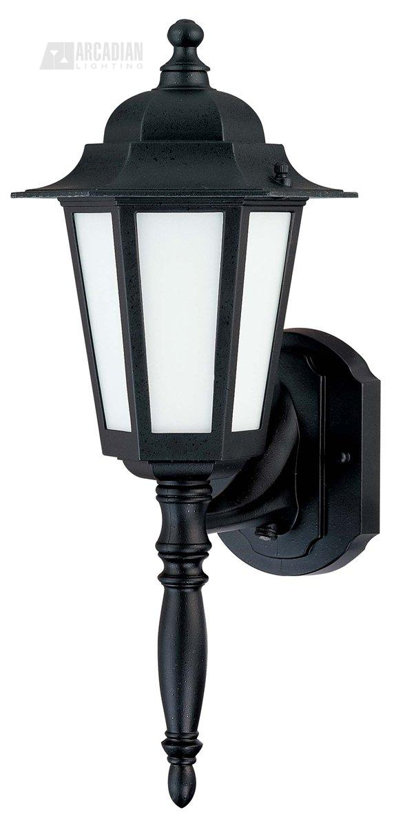 efficient traditional outdoor wall sconce with photocell nuv 60 2203. Black Bedroom Furniture Sets. Home Design Ideas