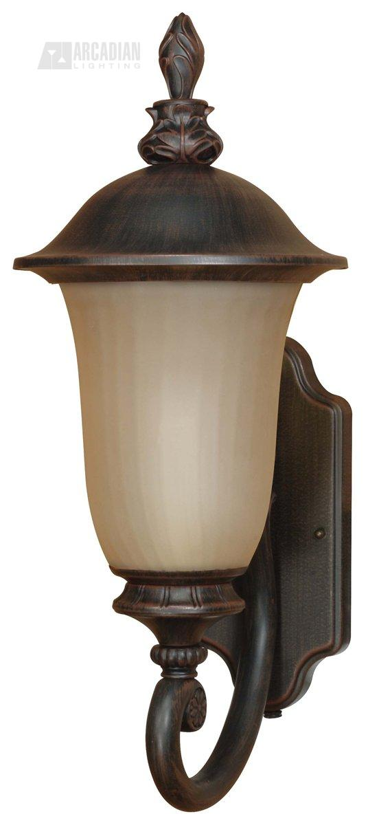 outdoor wall sconce with photocell large nuv 60 2507 see details. Black Bedroom Furniture Sets. Home Design Ideas
