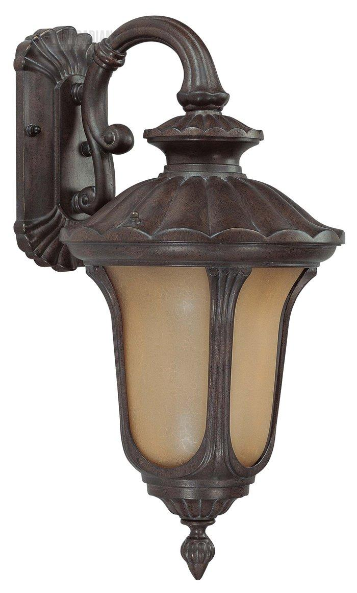 Nuvo lighting 60 3902 beaumont es energy efficient traditional outdoor wall sconce with for Exterior wall lights with photocell