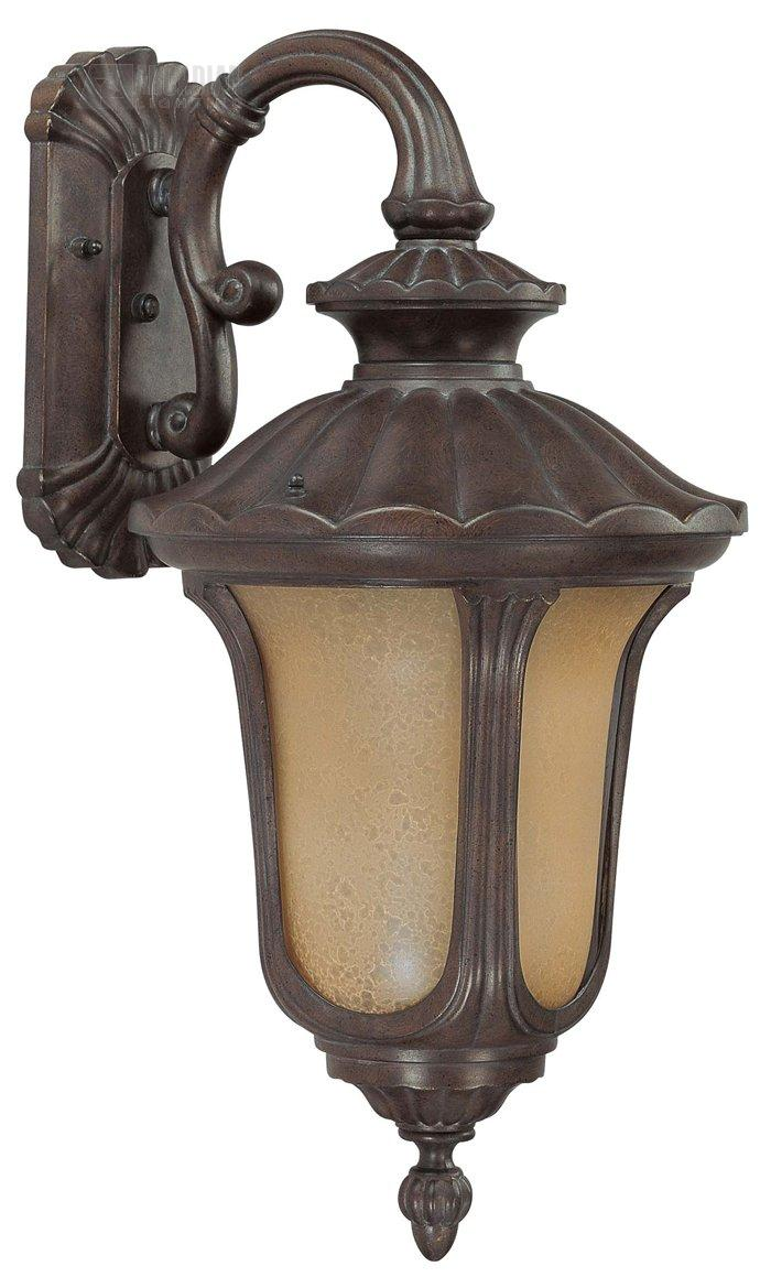 Wall Sconce With Photocell : Nuvo Lighting 60/3906 Beaumont ES Energy Efficient Traditional Outdoor Wall Sconce with ...
