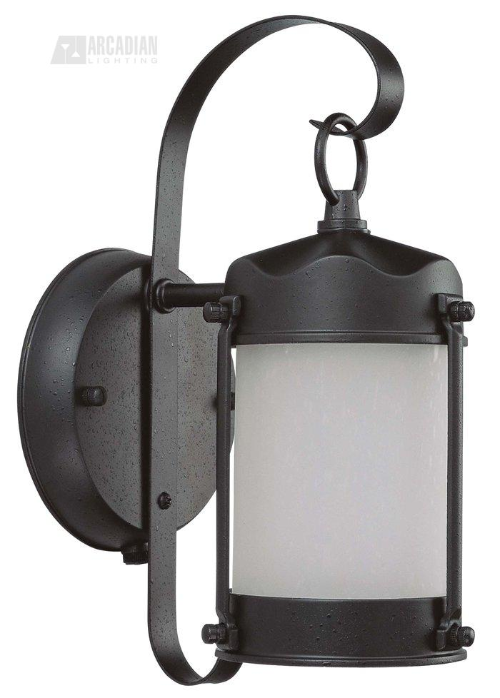Wall Sconce With Photocell : Nuvo Lighting 60/3946 Piper Lantern ES Energy Efficient Traditional Outdoor Wall Sconce with ...