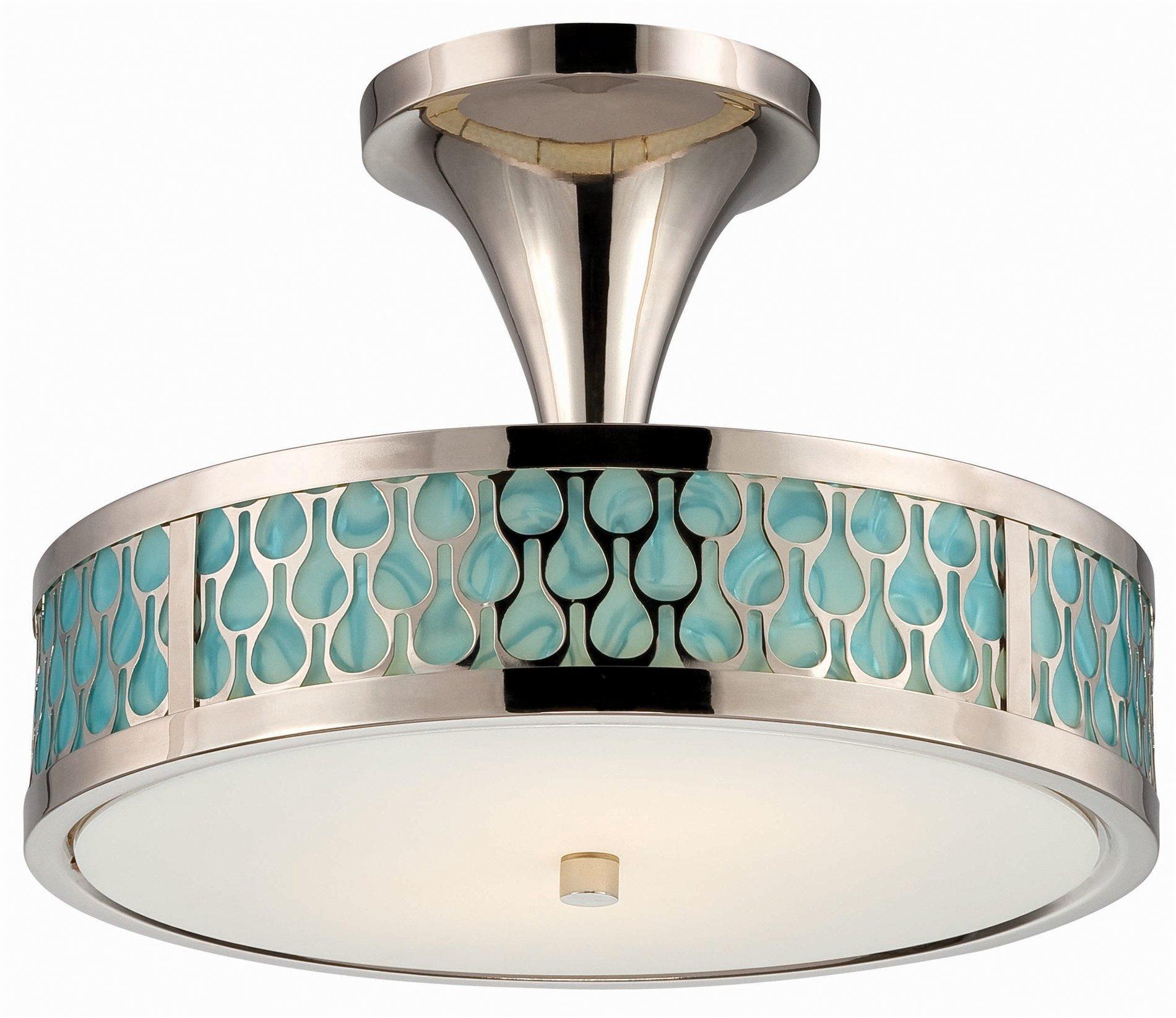 Nuvo Lighting 62 145 Raindrop Modern Contemporary LED Semi Flush Mount Ceil