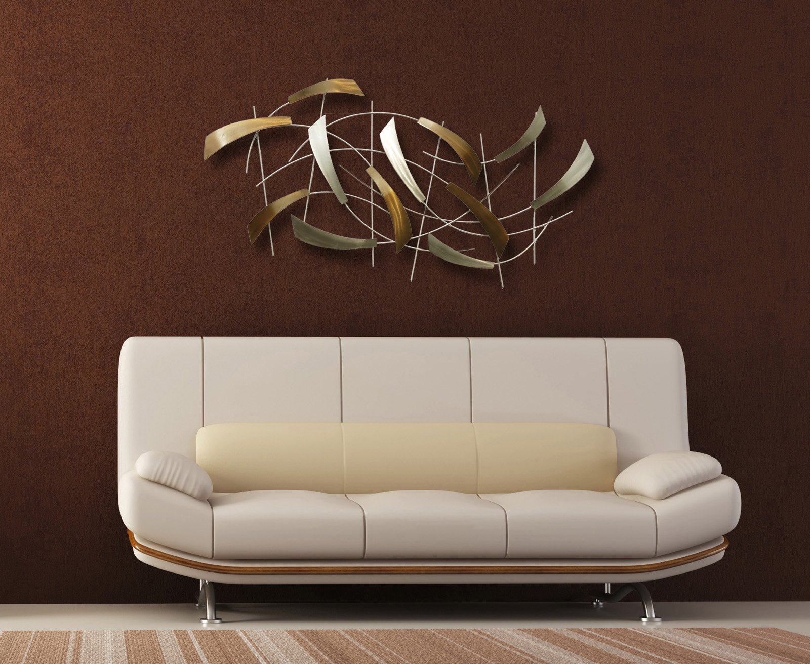 Nova lighting 12652 tidal contemporary wall art wall decor nv 12652 zoom aloadofball Images