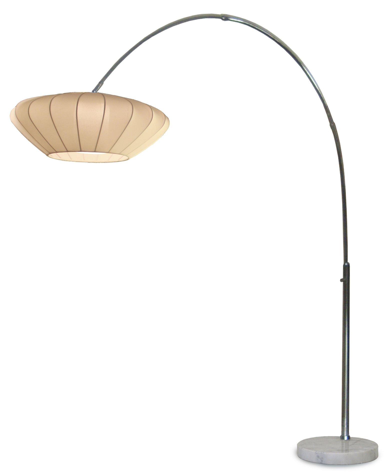 nova lighting 2110172 cloud contemporary arc floor lamp nv. Black Bedroom Furniture Sets. Home Design Ideas